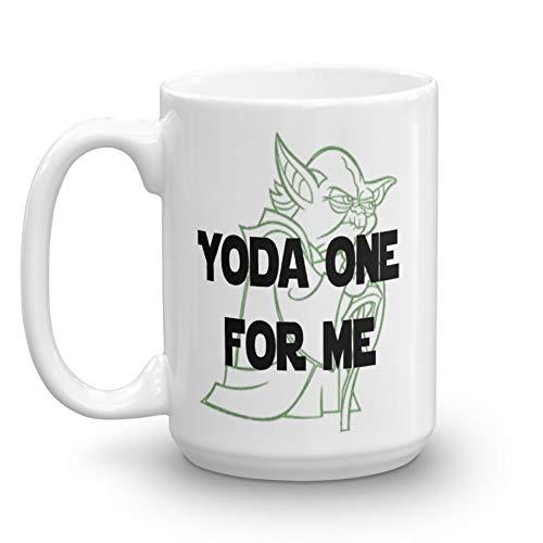(Yoda One For Me Mug, Funny Mug, Star Wars, Love (15 oz))