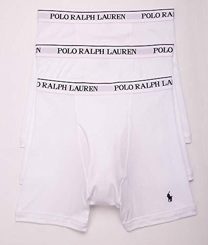 Polo Ralph Lauren Classic Fit 100% Cotton Boxer Briefs - 3 Pack (RCBBP3) L/White