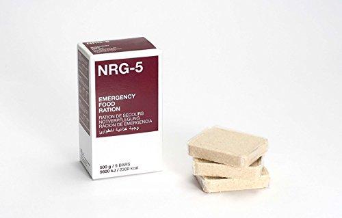 Notverpflegung, NRG-5, 1 Packung 500 g, (9 Riegel) Notration