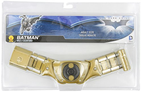 Batman The Dark Knight Rises Batman Belt, Gold, One Size