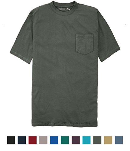 Falcon Bay 100% Cotton Pocket T-Shirt Charcoal 6XLT #481J - Falcon Bay Big And Tall T-shirt