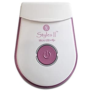 Styles II Mini Lady Shaver – USB Charging and Cordless – Silky Smooth Shave For Sensitive To Normal Skin – Dry Type – Ultimate In Convenience and Results – No Skin Irritations