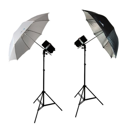 LimoStudio 400 Watt 2 Photo Studio Monolight Strobe Flash Umbrella Lighting Kits - 2 Studio Flash/Strobe, 2 Umbrellas, AGG338V2 by LimoStudio