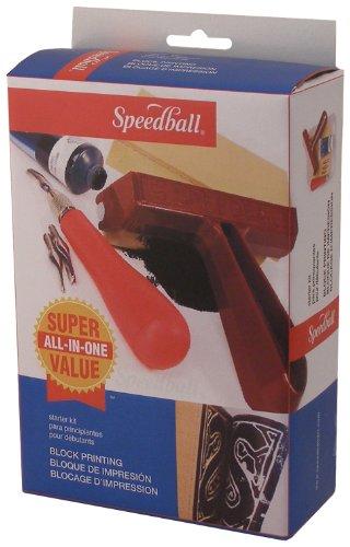 Speedball Super Value Block Printing Starter - Stamp Rubber Kit