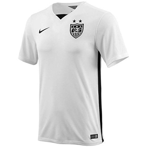Nike USA Women's Home Stadium Soccer Jersey For Men (White, Black) Youth X-Large ()