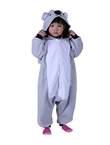 ABING Halloween Pajamas Homewear OnePiece Onesie Cosplay Costumes Kigurumi Animal Outfit Loungewear,Koala Chidren Size 95 -for Height:103-115cm