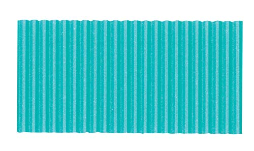 Corobuff Solid Color Corrugated Paper Roll, 48 Inches x 25 Feet, Azure Blue by Corobuff
