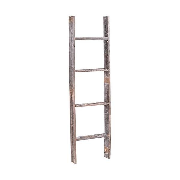 4' Reclaimed Barnwood Rustic Ladder