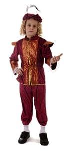 TUDOR - Disfraz de cortesano para niño, talla 4 - 6 años (U20 072)