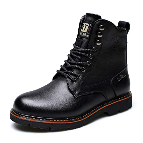 torcycle Boots Autumn Winter Lace-up Comfort Non-Slip Combat Boots ()