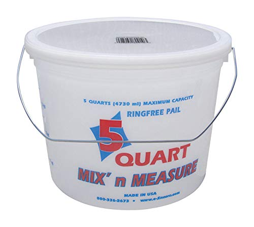 Encore 05166-300043 5 Quart Mix'n Measure Pail With Wire Handle