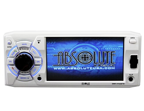 Absolute USA DMR-475ABTW 4.8-Inch DVD/MP3/CD Multimedia Player with USB, SD Card, Built-in Bluetooth and Analog TV Tuner (White)