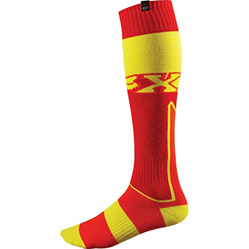 Fox Racing Fri Mx Socks (Fox Racing Fri Imperial Thick Men's MX Motorcycle Socks - Red/Yellow/Medium)