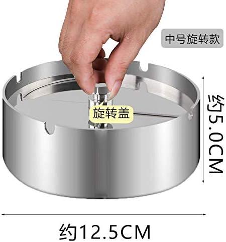EUEMCH ふたのすす棒の灰皿が付いている回転ステンレス製の灰皿の防風の灰皿車