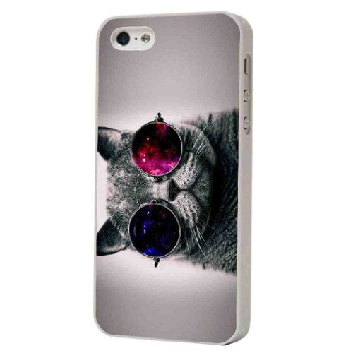 Cool funky chilled cat with shades sunglasses Design iphone 5 5S Hülle Case Back Cover Kunststoff