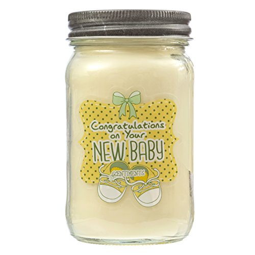 Baby Powder Fragrance Gift Candle – Perfect Shower Present – All natural Soy Wax 16o ...