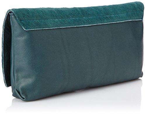Sous les Pavés - Spleen, pochette donna, color Verde (Poulain Canard/Canard/Argent), talla One Size