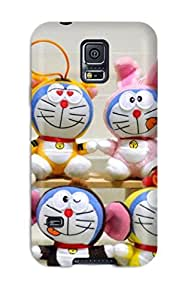 Awesome Doraemon Phone Dangle Flip Case With Fashion Design For Galaxy S5