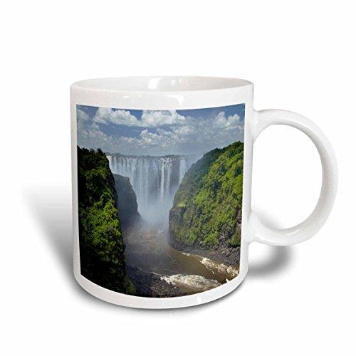 3dRose mug_188051_2 Victoria Falls, Mosi Oa Tunya, Zimbabwe, Africa Ceramic Mug, 15 oz, White