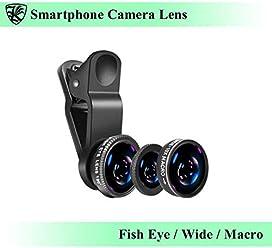 スマートフォン カメラレンズ クリップ式 ブラック 魚眼レンズ・広角レンズ・マクロレンズ 自撮り・SNS写真に最適 iPhone・Android・タブレットなどのデバイスに 【AK-PH-018B】