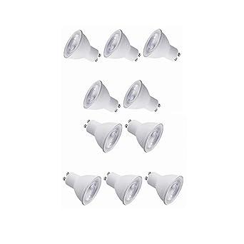 10Pack LED GU10 Bombillas LED 50W Reemplazo de halógeno 5W 40 ° Inicio Bombillas LED para
