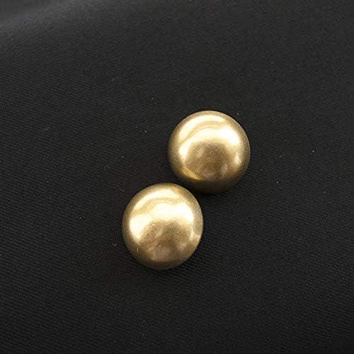 【ドーム型(シンプル足付きボタン)】メタルボタン #T5358 1穴 23mm C/#AP ライトアンティークゴールド 2個セット