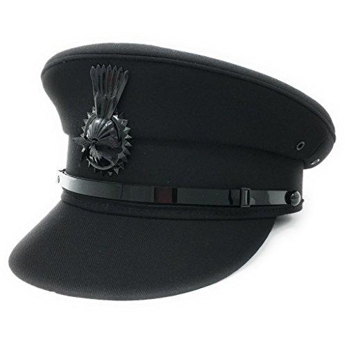 "Cotswold Country Hats Chauffeur Hat Cap for Men Women Unisex. Quality Driving Cap. Lined. Sturdy. Black or Grey (59cm/23.22""/US 7⅜ - L, Black)"