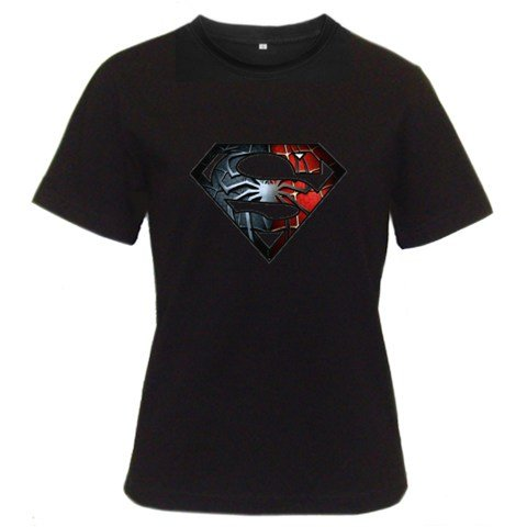 Funny T-Shirts (Superman Spiderman) Great Gift Ideas for Adults, Women, Girls, Youth, & Teens, Collectible Novelty Shirts - X-Large - Black