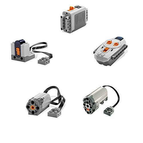 LEGO 5pc Power Functions Servo, Motor, Battery Box, IR Remote and Receiver SET