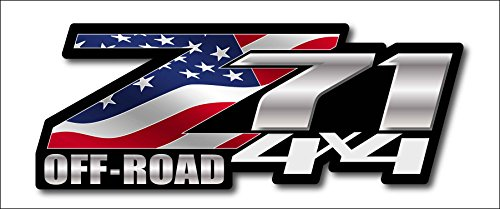 (American Flag Chevy Z71 4x4 Decals Set of Two GMC Off)