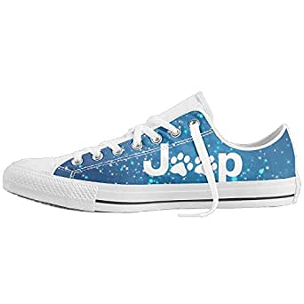 Jeep Dog PAW Unisex Classic Canvas Lace Up Shoes Sneakers For Men & Women