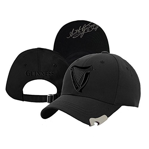 Guinness Black 3D Harp Bottle Opener Baseball Cap