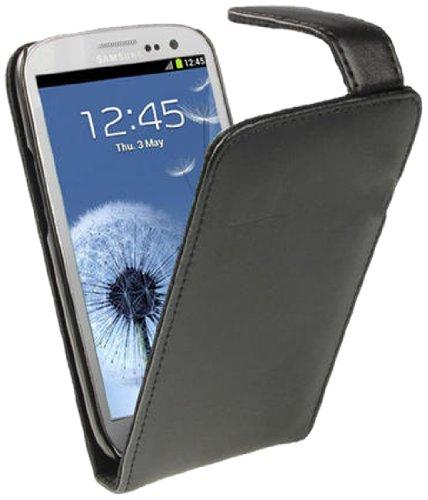 igadgitz Negro Funda de Piel Carcasa Case Cover para Samsung Galaxy S3 III i9300 Android Smartphone + Protector de… 2