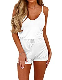 DasbaylaWomen'sStrappySleevless Rompers Short Outfit for Summer S-XL
