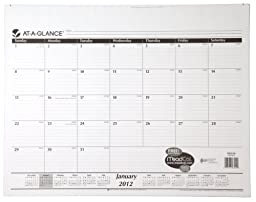 AT-A-GLANCE Monthly Refill for SK22-00, 22 x 17 Inches, White, 2012 (SK22-50)