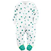 Carters Baby Boys Terry Zip-Up Sleep & Play (9 Months, Turquoise Aliens)