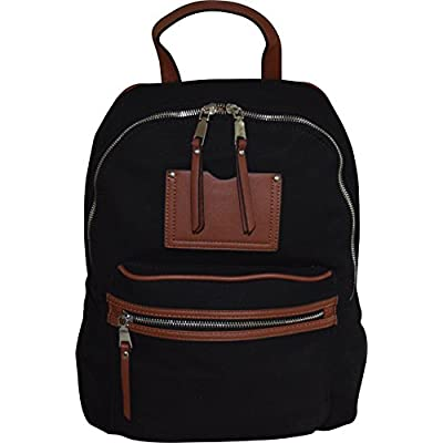 """high-quality MMS Design 15"""" Vintage Canvas & PU Leather Casual Backpack - School Bag"""