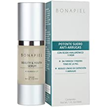 Acido Hialuronico De Alta Potencia - Reduce Manchas, Arrugas y Lineas de Expresion - Suero Facial Intensivo Con Vitamina C, E y MSM - 100% Garantizado