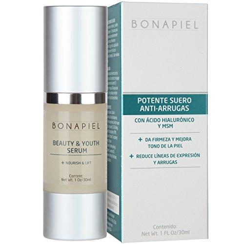Acido Hialuronico De Alta Potencia - Beauty & Youth Serum - Reduce Manchas, Arrugas y Lineas de Expresion - Suero Facial Intensivo Con Vitamina C, E y MSM - 100% Garantizado
