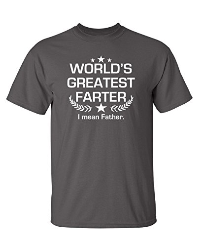 World's Greatest Farter Graphic Novelty Sarcastic Funny T Shirt 4XL Charcoal