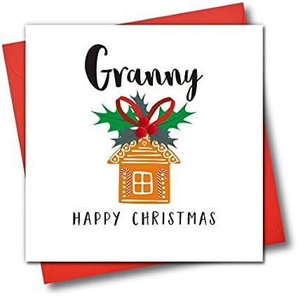 Tarjeta de felicitación de Navidad adornada con texto en inglés ...
