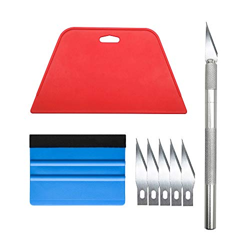Wallpaper Smoothing Tool Kit for Adhesive Contact Paper Application Window Film Craft ()
