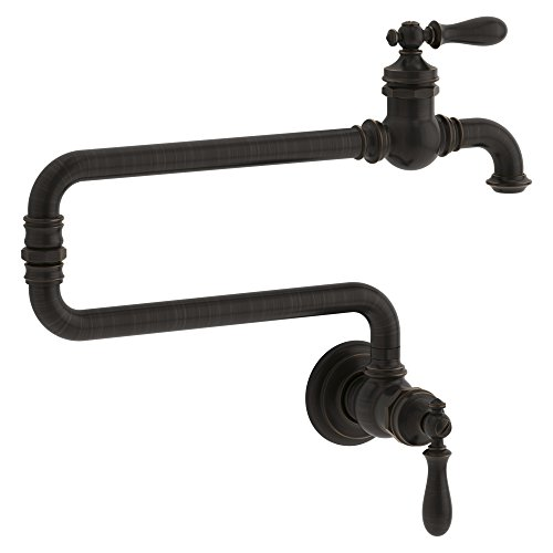 Aquafaucet Brass Kitchen Wall Mount Single Handle Pot Filler Faucet