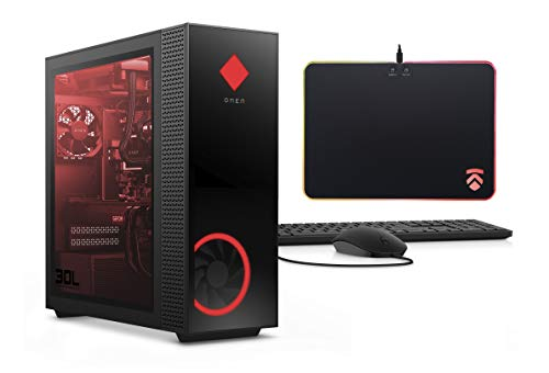 2020 Latest ELUK OMEN 30L NVIDIA RTX 3070 Gaming Desktop PC (RGB Liquid Cooled Intel i9-10900K, Z490 Mobo, 750 Watt Platinum PSU, Windows 10 Pro, 2TB WD Black SSD + 2TB HDD, 64GB HyperX RGB RAM)