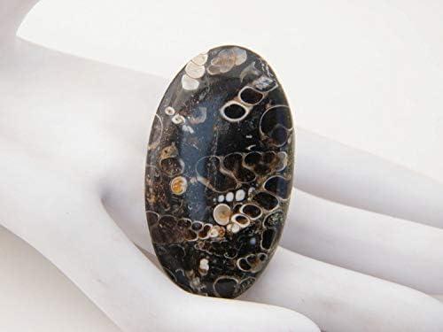 Oval cabochon 46.60 x 36.50 mm Madagascar y30204 Loose Gem Cabochon Gemstone Rare Savannah jasper 62.40 ct