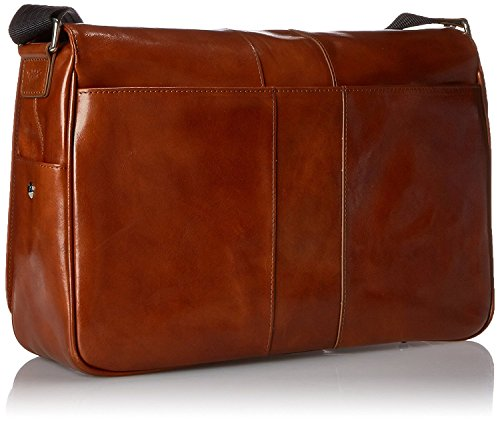 Bosca Men's Messenger, Amber, One Size by Bosca