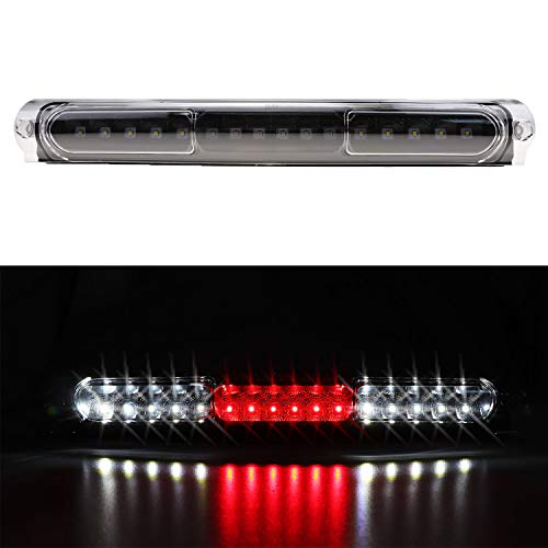- For Ford F150 / F250 / Excursion LED Third 3rd Brake Cargo Light Assembly, Rear Roof Center High Mount Stop Tail Light Replacement (Black Housing Clear Lens)