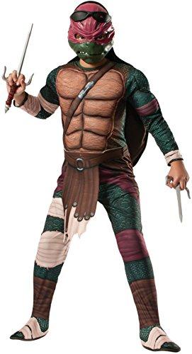 Kids Deluxe Teenage Mutant Ninja Turtles Raphael Costume Bundle Medium (Custom Tmnt Costumes)