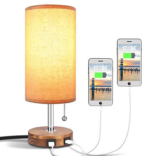 Hong Minimalist Nightstand Charging Bedroom
