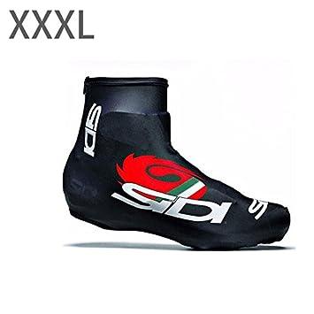Fenghong Cubre Zapatillas de Bicicleta, Zapatillas de Bicicleta Cubiertas de Ciclismo de Ciclismo Unisex Accesorios Deportivos Pro Racing XXXL y Negro: ...